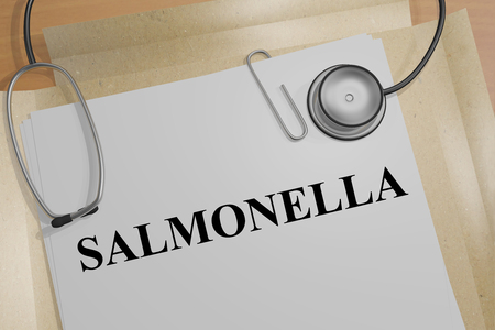 3D illustration of SALMONELLA title on a medical document Stock Photo