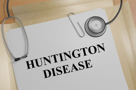 3D illustration of HUNTINGTON DISEASE title on a medical document Stock Photo