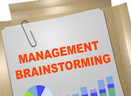 3D illustration of MANAGEMENT BRAINSTORMING title on business document