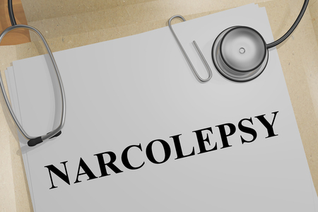 3D illustration of NARCOLEPSY title on a medical document Stock Illustration - 97150550