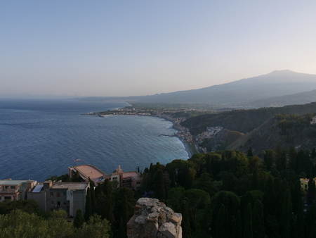 Landscape of Mount Etna and of east Sicily