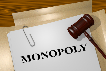 3D illustration of MONOPOLY title on legal document Stock Photo