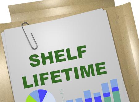 3D illustration of SHELF LIFETIME on business document