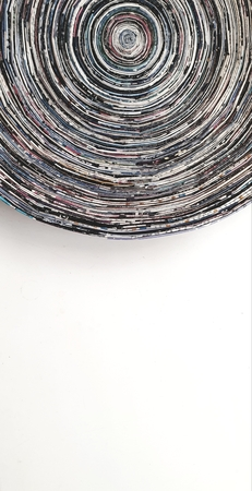 Abstract art in a rounded shape, rich in colors and prominent texture 版權商用圖片