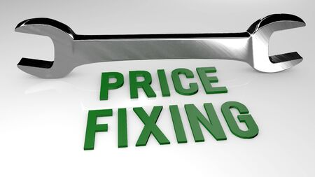 Price Fixing title concept illustration. 3D render illustration.