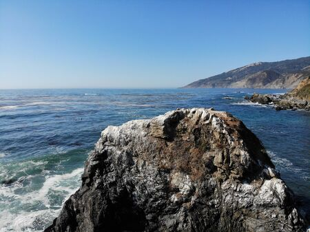 Highway one in California scenery of the ocean