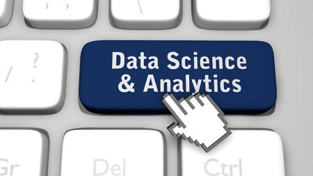 Data science and analytics. 3D render illustration. Stock Photo