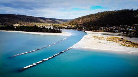 Prosser Bay near Orford at Tasmania Australia drone breathtaking view