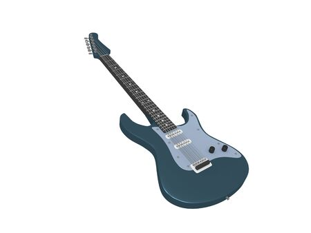 3D illustration of an electric guitar, isolated on white. Stock fotó
