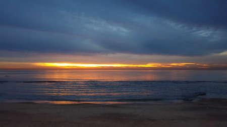 Sunset landscape uniquely dark and uncommon