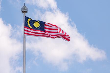Maleisische vlag geblazen door de wind