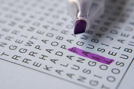 word puzzle brain teaser.word fail in highlight