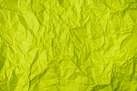 green crumpled paper texture as background. concept of school, abstract and stress Stock Photo