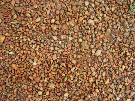 top view of a gravel dirt road. can be use for background and wallpaper Stock Photo