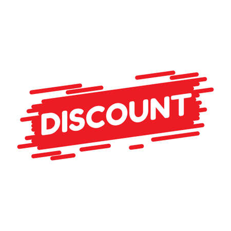 Illustration vector graphic of discount text flat design good for retail promotion