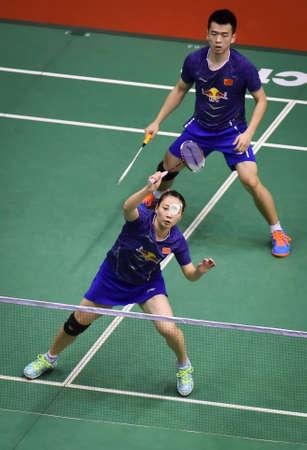 KUALA LUMPUR, MALAYSIA - JANUARY 21, 2018 : Zheng Siwei and Huang Yaqiong China Mix's Doubles during the Perodua Malaysia Masters 2018 at Axiata Arena, Bukit  Jalil.