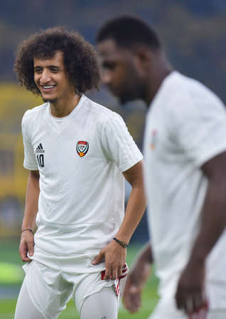 Kuala Lumpur, Malaysia - September 10, 2019 : UAE player, Omar Abdulrahman in action during FIFA World Cup Qatar 2022 and AFC Asian Cup China 2023 Preliminary Joint Qualification Round 2 at National Stadium Bukit Jalil.