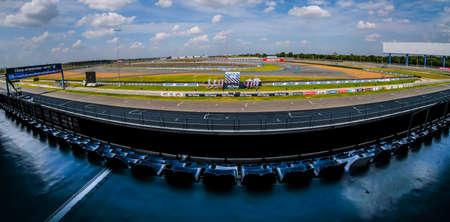 Buriram, Thailand - November 10, 2017 : The view of Buriram International Circuit or Chang international Circuit in Buriram, Thailand.