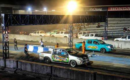 Buriram, Thailand - November 10, 2017 : Drag race at Buriram International Circuit or Chang international Circuit in Buriram, Thailand.