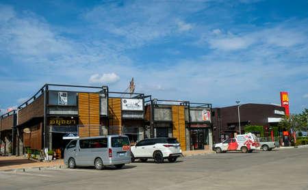 Buriram, Thailand - November 10, 2017 : The view of Restaurant near Buriram International Circuit or Chang international Circuit in Buriram, Thailand. 新聞圖片