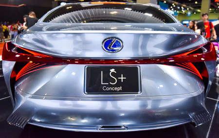KUALA LUMPUR, MALAYSIA - DEC 3, 2019 : View of back new Lexus LS+ Concept displayed at Kuala Lumpur International Motor Show Sajtókép