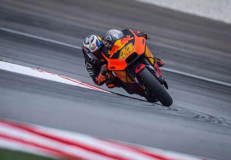 SEPANG, MALAYSIA - NOVEMBER 04, 2018 : Pol Espargaro of Spanish and Red Bull KTM Factory Racing in action during the MotoGP race of the Malaysian Motorcycle Grand Prix at Sepang Circuit.