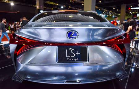 KUALA LUMPUR, MALAYSIA - DEC 3, 2019 : View of back new Lexus LS+ Concept displayed at Kuala Lumpur International Motor Show