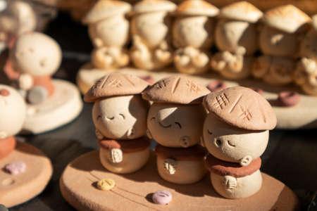Close-up shot of the sourvenir sold at the gift shop in Kamakura, Japan. Reklamní fotografie
