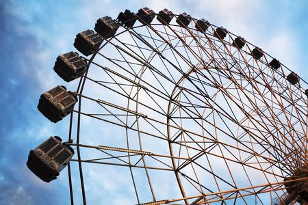 circumference: A ferris wheel at an amusement park