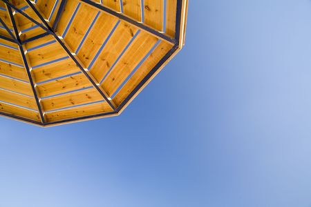 parasol on a background of the sky Stock Photo - 650177