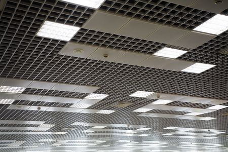 office celling with a lot of lamps photo