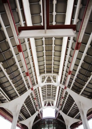 interior (celling) of an Moscow Monorail station. photo