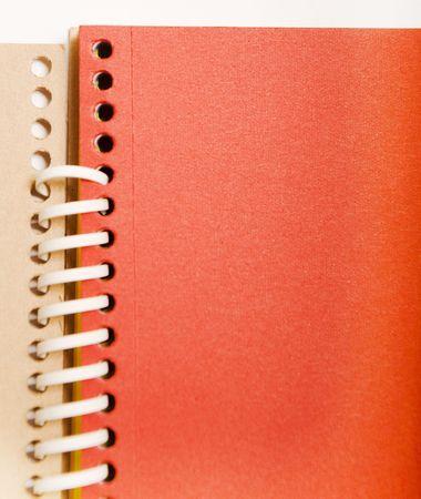 red spring notebook. kids background.