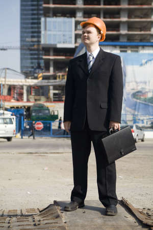 foreman looking to construction building (2) Stock Photo - 1104149