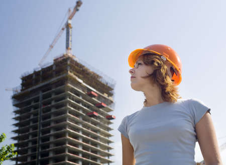 girl before constructing