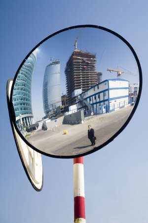 mirroring construction and foreman Stock Photo - 1104159