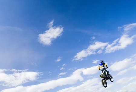motocross rider in the air photo