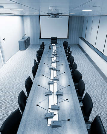meeting room with blue tilt Stock Photo - 1414482
