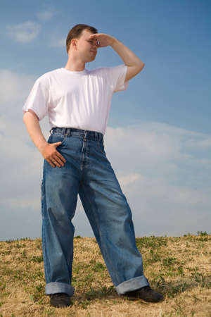a man in a field Stock Photo - 1414490