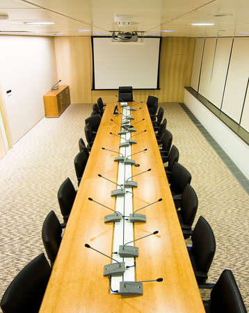 meeting room from above Stock Photo