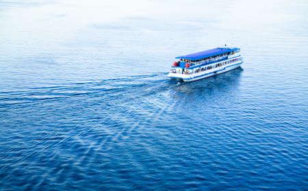 ferryboat: ferryboat on the river Oka.