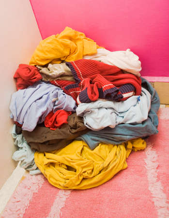 heap of unwashed clothes