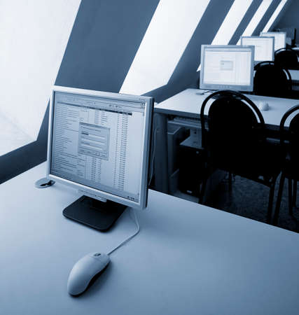 interior of a computer class Stock Photo