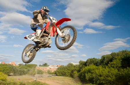 motoccross rider in the air