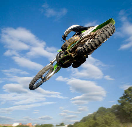 the motocross rider jumping over me!