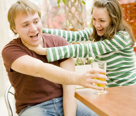 young man and girl have fun Stock Photo - 2256444