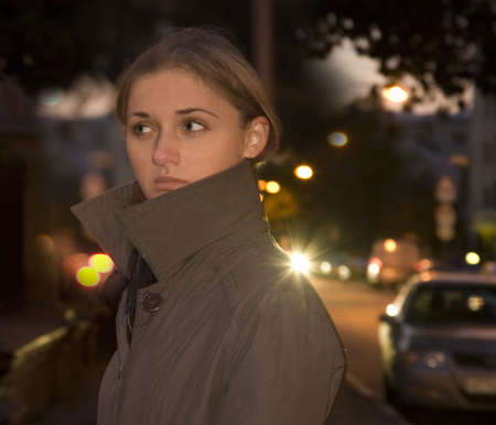 girl on an evening street