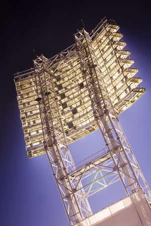 support of spotlights for lighting stadium Stock Photo
