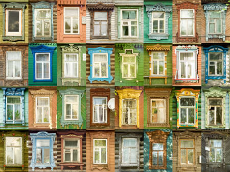 neighbors: 32 multicolored tradition windows from russian town Murom (every window available as 1000x1500 pxls).