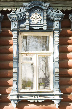 Great decoration on window from Kovrov-town. It's names - nalichnik Stock Photo - 3448914